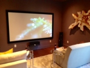 729 Congo - A TV room with a movie theater feel