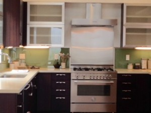 Prospective Real Estate Buyers will love this custom kitchen with new stainless steel appliances