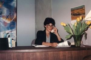 Paula Pagano being tenacious and working late at office